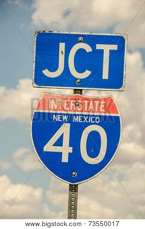 Junction Sign For I-40