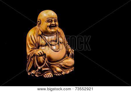 Oriental Buddist Statue Isolated