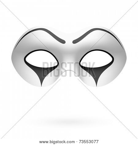 Clown, mime mask. Vector.