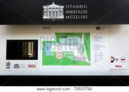 Istanbul Archaeological Museum In Istanbul, Turkey.