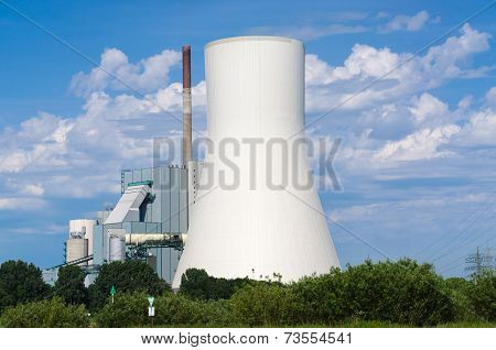 Power Plant On The Rhine