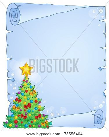 Christmas thematic parchment 7 - eps10 vector illustration.