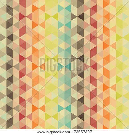 Retro pattern of geometric shapes. Colorful-mosaic-ban ner. Geometric hipster retro background with