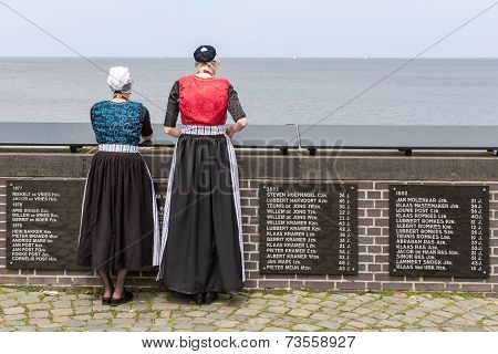 Two Traditional Dressed Women From Urk