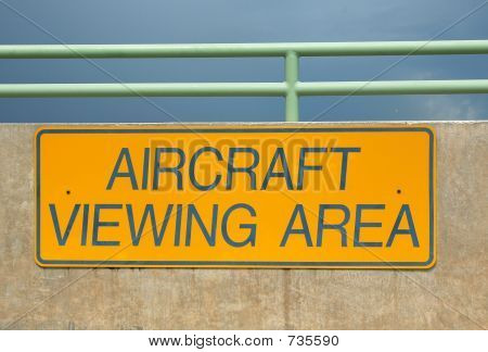 Warning sign at airport facility