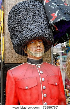 English royal guard made of plastic