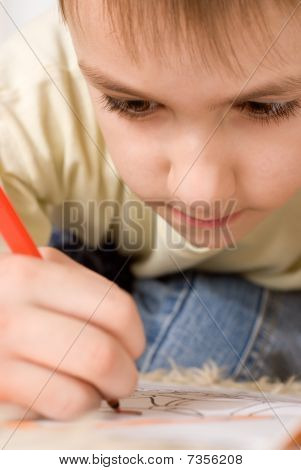 Happy Boy Drawing