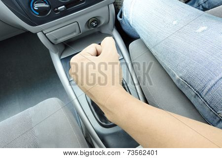 Hand On Shift Knob