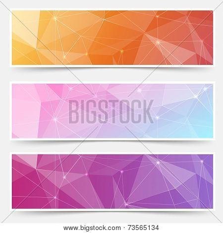Web Shining Crystal Structure Banner Headers