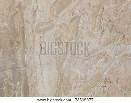 Slab Of Striped Beige Marble