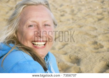 Happy smiling older woman