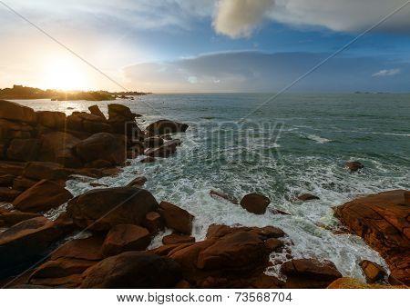 Ploumanach Coast Sunset View (brittany, France)