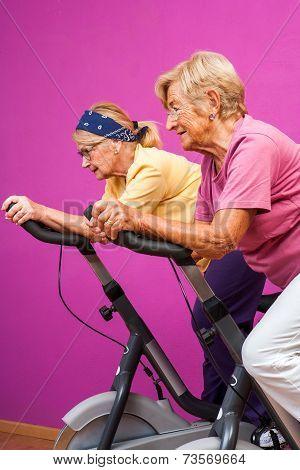 Senior Women Doing In Gym