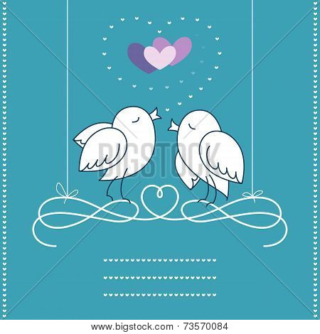 Holiday Postcard: Birds in Love