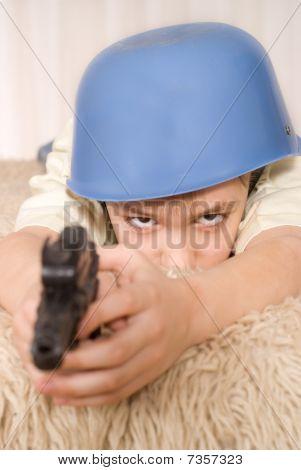 Handsome Boy With A Gun