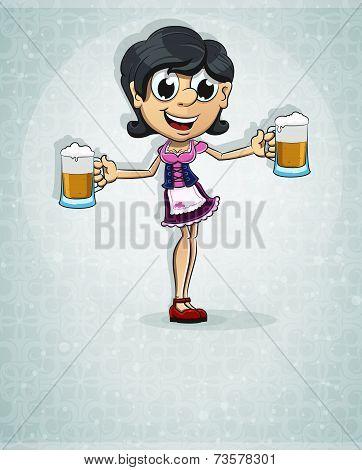 Oktoberfest  Brunette Girl