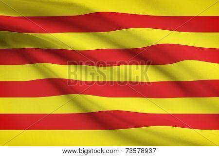 Series Of Ruffled Flags - Catalonia