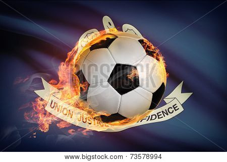 Soccer Ball With Flag On Background Series - Louisiana