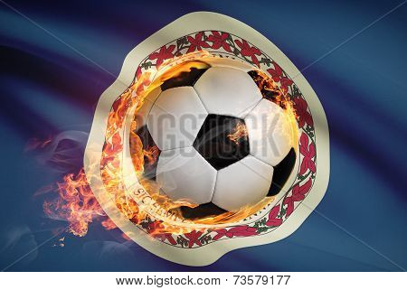Soccer Ball With Flag On Background Series - Virginia