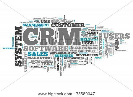 Word Cloud Crm - Customer Relationship Management