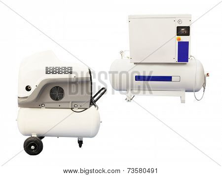 compressor isolated under the white background