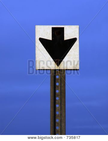 Down Arrow Sign