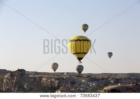 Cappadocia Turkey. The greatest tourist attraction of Cappadocia the flight with the balloon