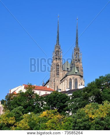 Cathedral of St. Peter and Paul in Brno, Czech Republic, Europe