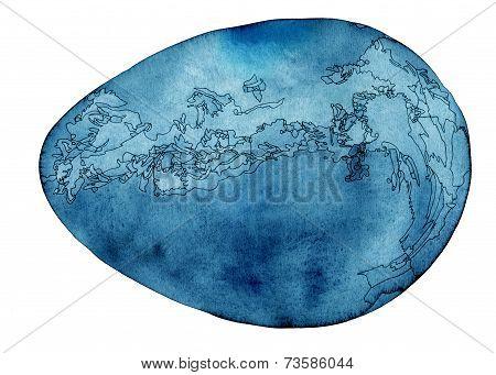 Cosmic egg blue