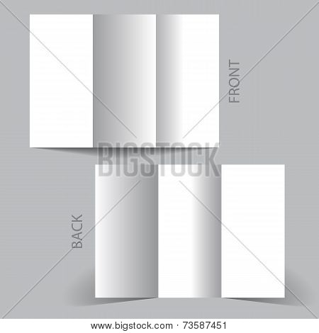 White Tri-fold Mock Up & Brochure Design