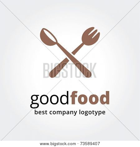Abstract vector logotype for restaurant concept isolated on white background.Key ideas is business, caffe, cookng, food, restaurant, eating. Concept for corporate identity and branding