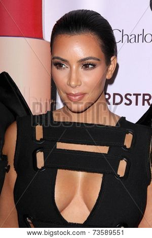 LOS ANGELES - OCT 9:  Kim Kardashian West at the Charlotte Tilbury Makeup Your Destiny Beauty Festival at The Grove on October 9, 2014 in Los Angeles, CA