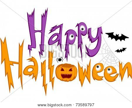 Text Illustration Featuring Halloween Greetings