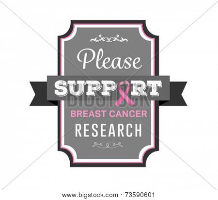 Digitally generated Breast cancer awareness vector with text