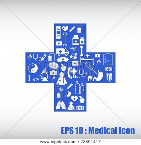 Medical Icon by cross shape
