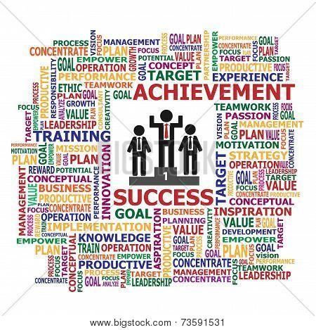 Vector of business achievement