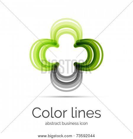 Symmetric abstract geometric shape, business symbol or logo design, loop
