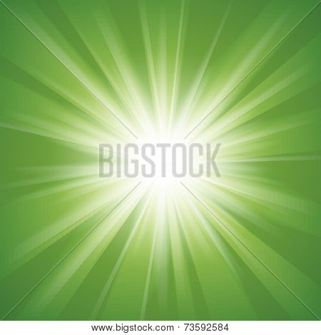 Green and white abstract magic light background