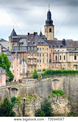 Buildings On A Hill In Luxembourg City