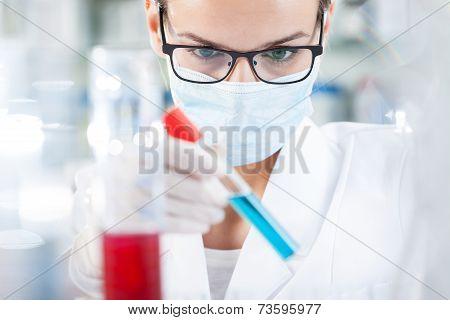 Biologist Analyzing Result Of Testing