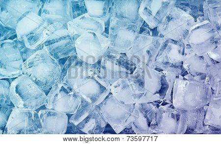 background with ice cubes. cold cool, macro