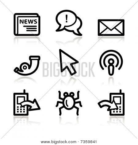Black contour internet set 2 web icons V2
