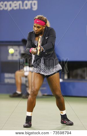 Seventeen times Grand Slam champion Serena Williams before first round match against Taylor Townsend