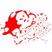 image of gash  - Blood stains  - JPG