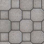 pic of octagon  - Gray Square and Octagon Paving Slabs - JPG