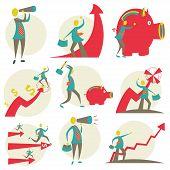 image of fail job  - Set of character businessman - JPG
