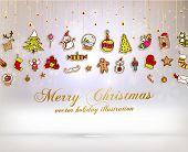 image of placard  - Christmas Set of Icons - JPG