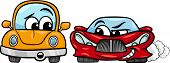pic of maliciousness  - Cartoon Illustration of Malicious Sports Car and Retro Automobile - JPG