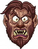 stock photo of werewolf  - Angry werewolf face - JPG