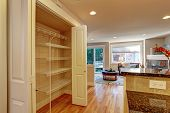 picture of racks  - Kitchen room storage rack with folding doors - JPG